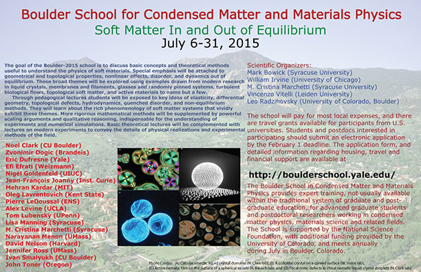 Boulder School for Condensed Matter and Materials Physics - 2015