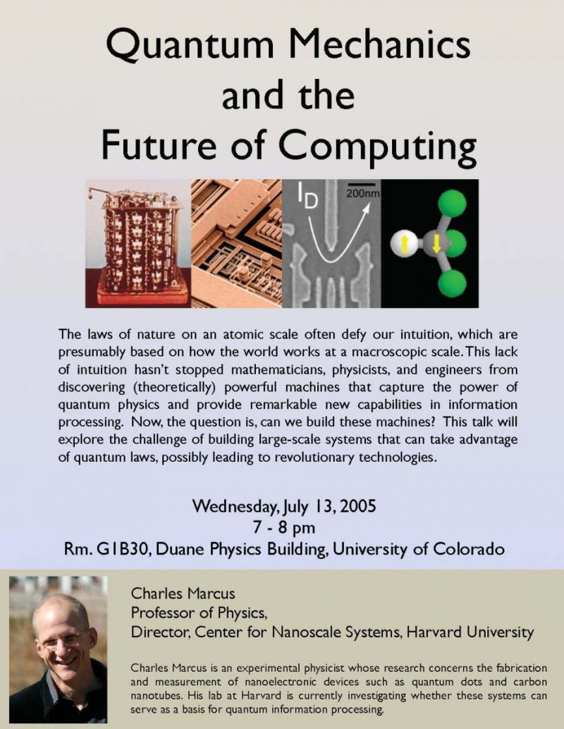 Boulder School 2005: Physics of Mesocopic Systems | Boulder School
