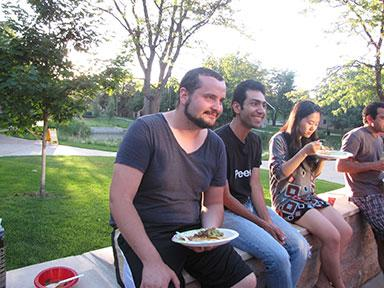Potluck Dinner. Photo by Seyedmahdi Sadjadi