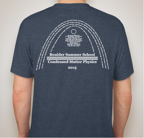 2015 Boulder School Tee-Shirt Contest Winner (Back View)